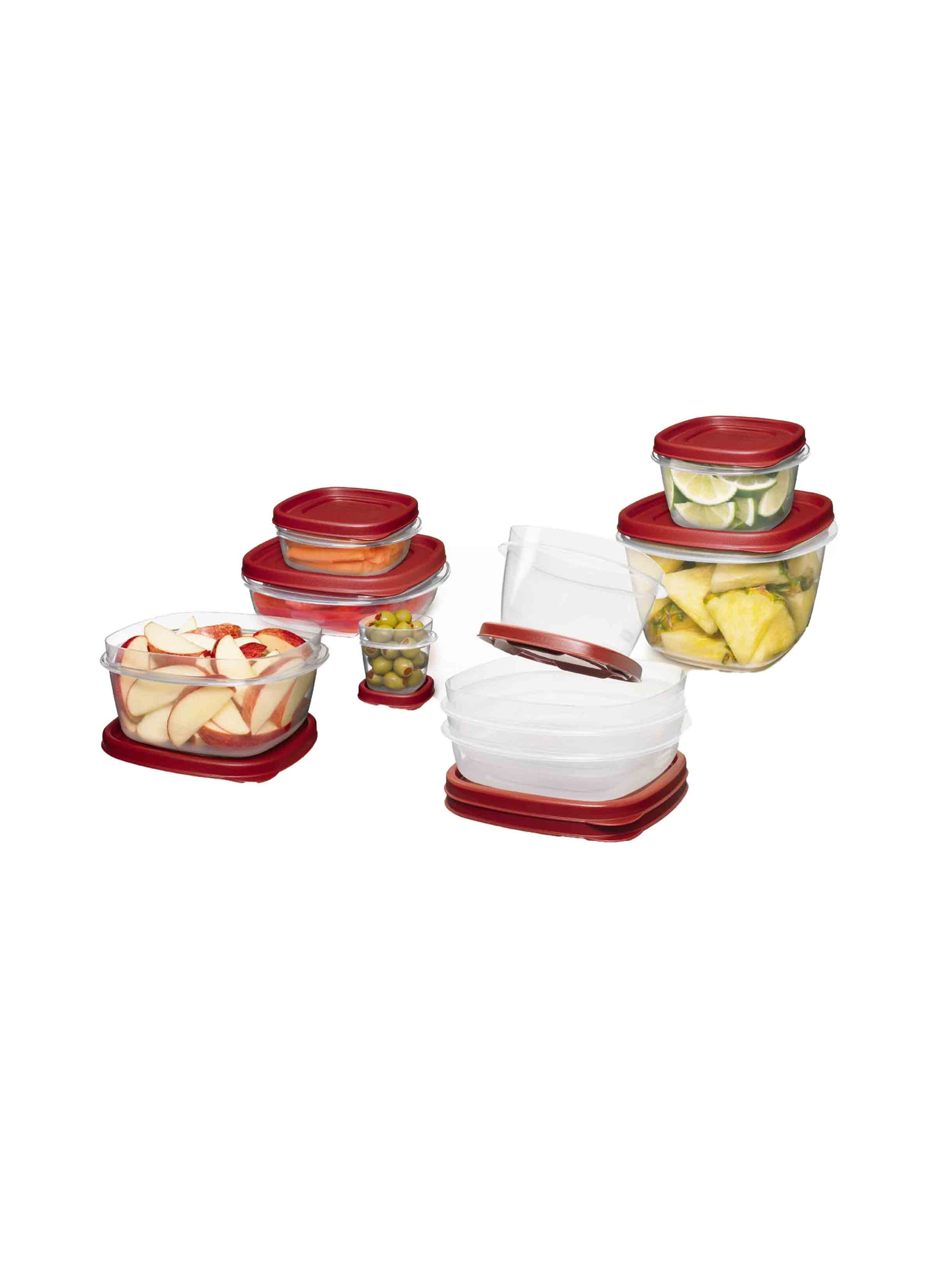 Rubbermaid 24PC Easy Find Lids Set 2 pcs 05 cup 2 pcs 125 cup