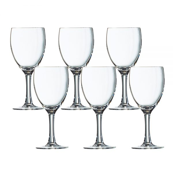 CARE012, FR 12055 ELEGANCE WINE STEMGL 19CL C64