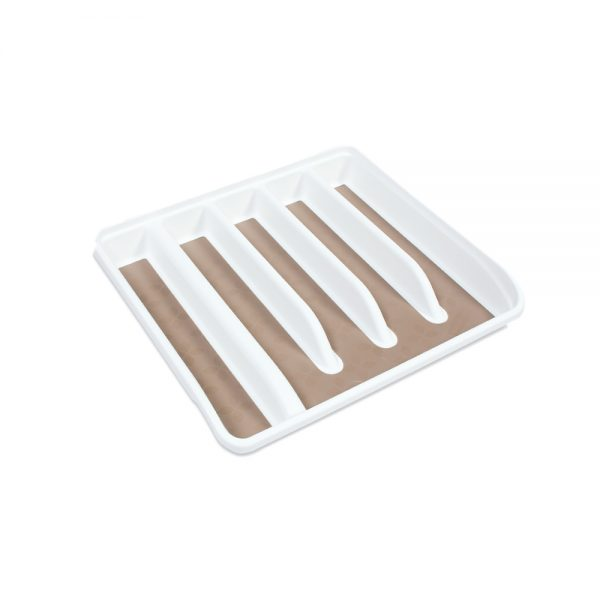 US RM 1J1509 WHT EXPAND NO SLIP CUTLERY TRAY